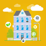 Vector Flat House Illustration Infographic Royalty Free Stock Photos