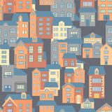 Vector flat houses Stock Photography