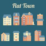 Vector flat houses Stock Images