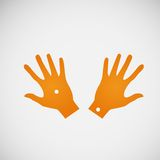 Vector flat icon hands. color abstraction eps Stock Photo