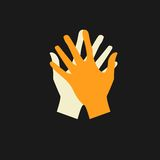 Vector flat icon hands. color abstraction eps Stock Photography