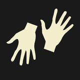Vector flat icon hands. color abstraction eps Royalty Free Stock Photography