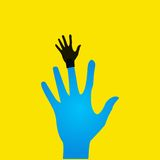 Vector flat icon hands. color abstraction eps Stock Image