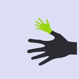 Vector flat icon hands. color abstraction eps Stock Photos