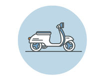Vector flat  icon of scooter. Stock Images