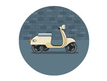 Vector flat icon of scooter Stock Images