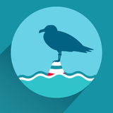 Vector flat icon of seagull Royalty Free Stock Photo