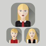 Vector flat icon set. Royalty Free Stock Images