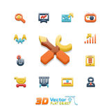 Vector flat icon set Stock Images