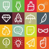 Vector flat icon set - graphic design symbols Royalty Free Stock Image