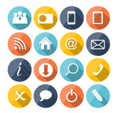Vector Flat Icon Set for Web. This is file of EPS10 format Stock Images