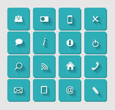 Vector Flat Icon Set for Web Stock Photography