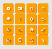 Vector Flat Icon Set for Web Stock Image