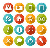 Vector Flat Icon Set for Web. This is file of EPS10 format Royalty Free Stock Photo