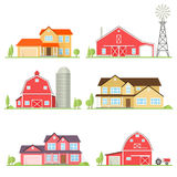 Vector flat icon suburban american house. Royalty Free Stock Photography
