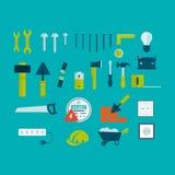 Vector flat icon tools Stock Photo