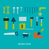 Vector flat icon tools Royalty Free Stock Photography