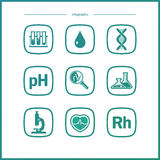 Vector Flat Icons - Biology. Science set Royalty Free Stock Photos