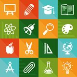 Vector flat icons - education and science Royalty Free Stock Image