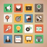 Vector flat icons - internet marketing Stock Photography
