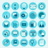 Vector flat icons - internet marketing Stock Photo