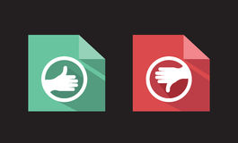 Vector flat icons like unlike. Signs Stock Photos