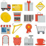 Vector Flat Icons - Retail Royalty Free Stock Photo