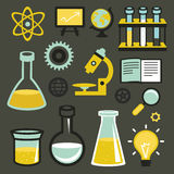 Vector flat icons - science and education Royalty Free Stock Photography