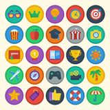 Vector flat icons set vector illustration