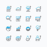 Vector flat icons set of business finance outline up concept. Vector flat icons set of business finance outline up concept Stock Photography