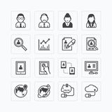 Vector flat icons set of business finance technology . Stock Photo
