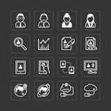 Vector flat icons set of business finance technology . Royalty Free Stock Photos