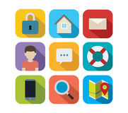 Vector flat icons Stock Images