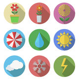 Vector flat icons set on white background. Eps10 Royalty Free Stock Photos