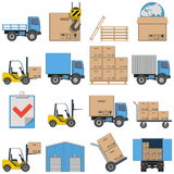 Vector Flat Icons - Shipping Royalty Free Stock Photography