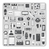 Vector of flat icons, Smartphone set Royalty Free Stock Images