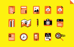 Vector flat icons Royalty Free Stock Photos