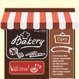Vector flat  illustration bakery shop. Stock Photos