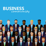 Vector flat  illustration of business or politics community. Royalty Free Stock Photography
