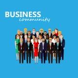 Vector flat  illustration of business or politics community. Stock Image