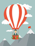 Vector flat illustration of a businessman flying Royalty Free Stock Images
