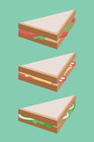 Vector flat illustration of isometric sandwich. Stock Image