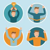 Vector flat illustrations - victory concepts Royalty Free Stock Images