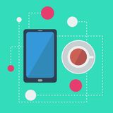 Vector flat infographics with smartphone Royalty Free Stock Photos
