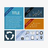 Vector flat infographics template Royalty Free Stock Image