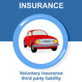 Vector flat insurance icons Stock Image