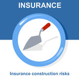 Vector flat insurance icons Stock Photography