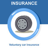 Vector flat insurance icons Stock Images