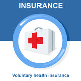 Vector flat insurance icons Royalty Free Stock Images