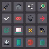 Vector flat internet icons set Stock Image